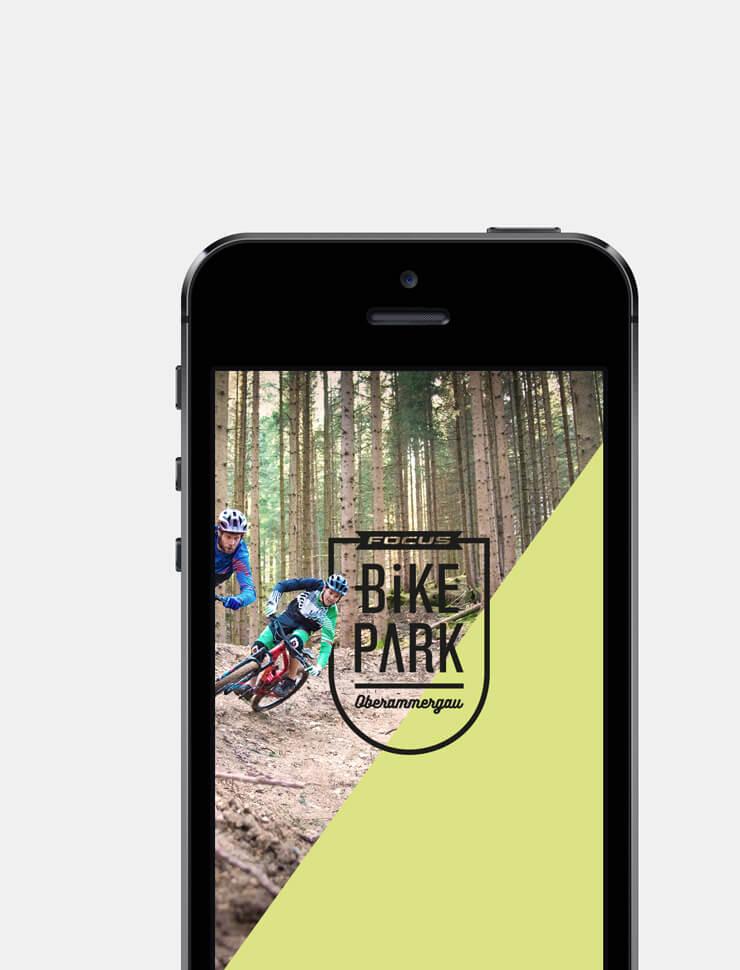 Webdesign – Bikepark Oberammergau